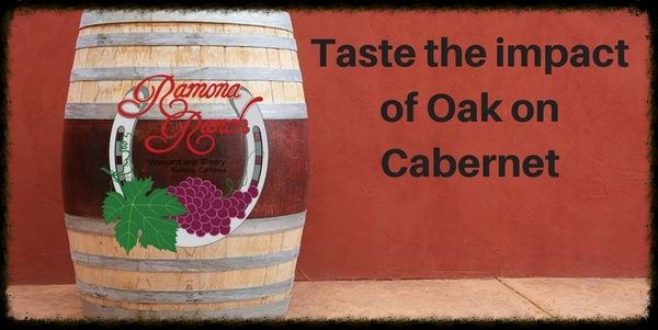 Taste the impact of Oak on Cabernet